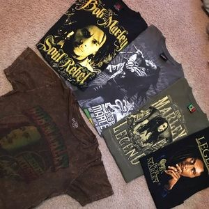 🚨5 shirt bundle 🚨🚨BOB MARLEY ZION SHIRTS 🚨🚨🚨